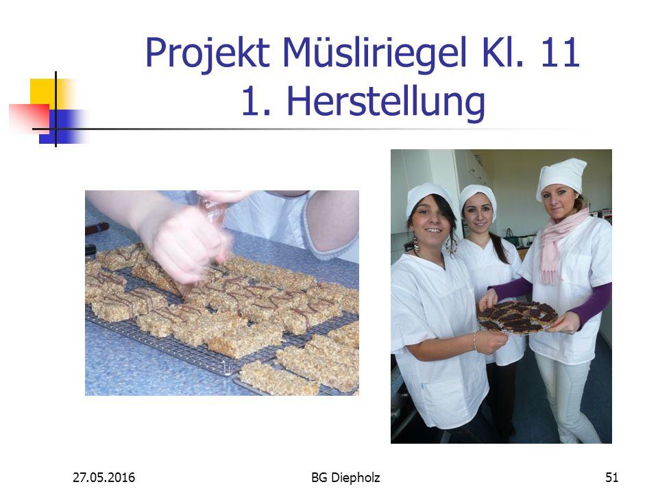 27.05.2016BG Diepholz50 Besonderheit Die Lehr- und Lernprozesse in den Schwerpunktfächern sind an Problembereichen orientiert und werden vielfach in Projekten durchgeführt.