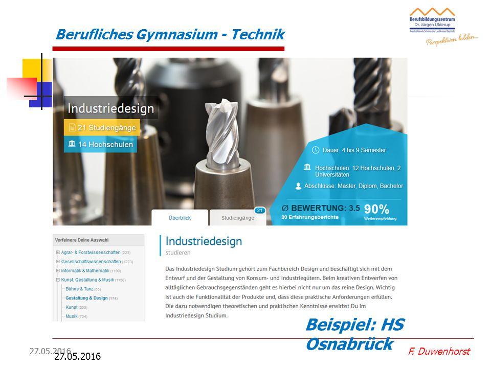 27.05.2016 Studiengänge Profil MT:  Maschinenbau  Mechatronik  Werkstofftechnik  Energietechnik  Luft- und Raumfahrttechnik  Medizintechnik  El