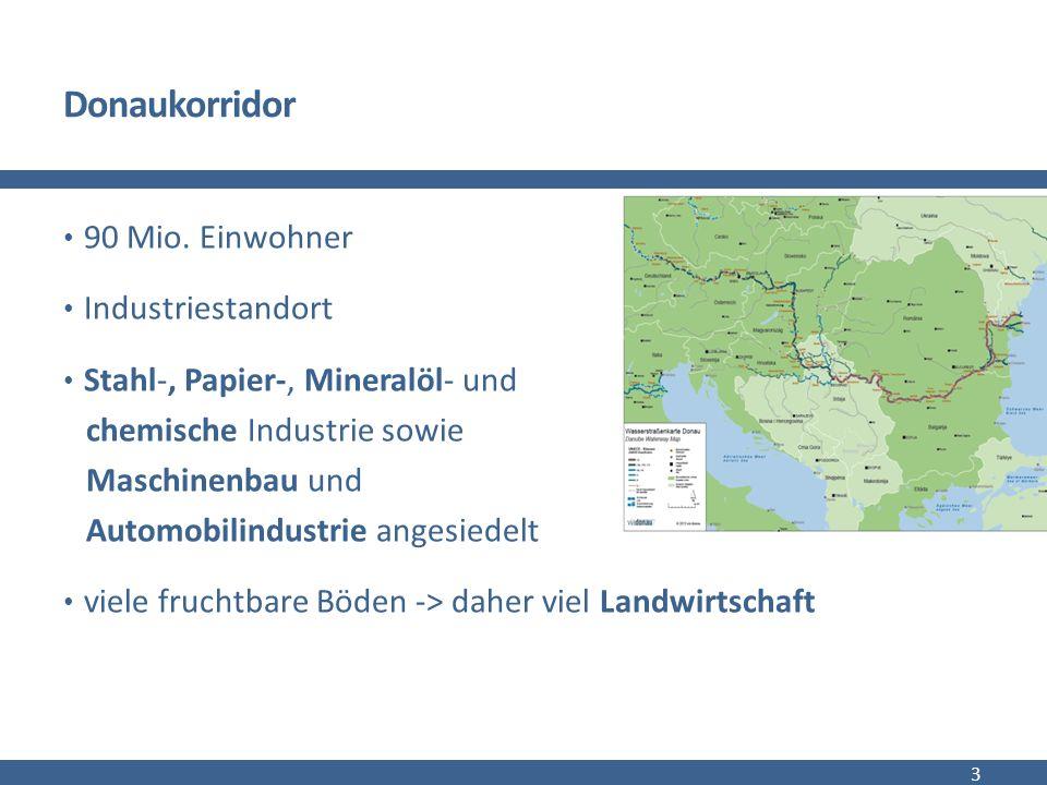 Güterverkehr auf der Donau Güterverkehr gesamt 2013:  rund 37,7 Mio.