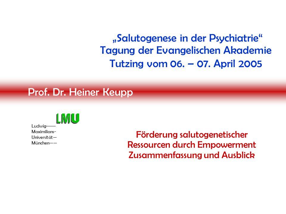 """Professor Heiner Keupp » Reflexive Sozialpsychologie « Empowerment statt """"fürsorglicher Belagerung """"Wer erfolgreich mit uns arbeiten will, sollte (…) an unsere Fähigkeiten und Entwicklungsmöglich- keiten glauben."""
