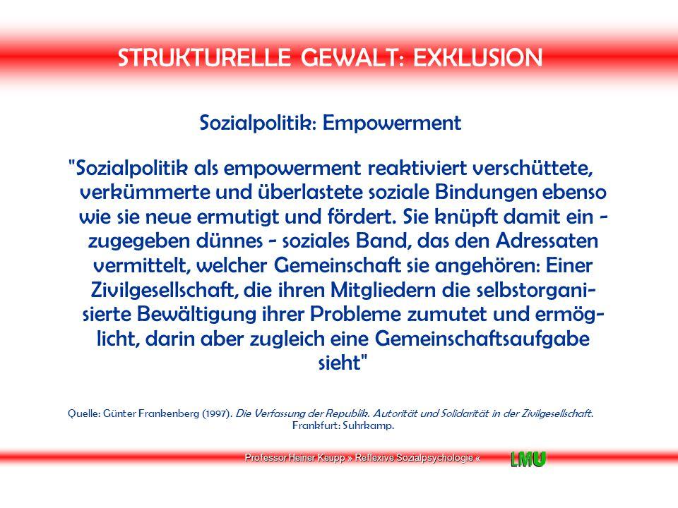 Professor Heiner Keupp » Reflexive Sozialpsychologie « Welche Ressourcen brauchen wir zur Lebensbewältigung.