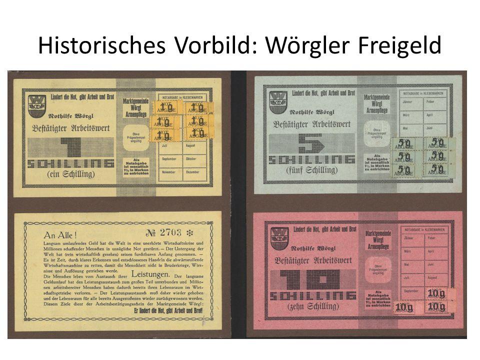 Historisches Vorbild: Wörgler Freigeld