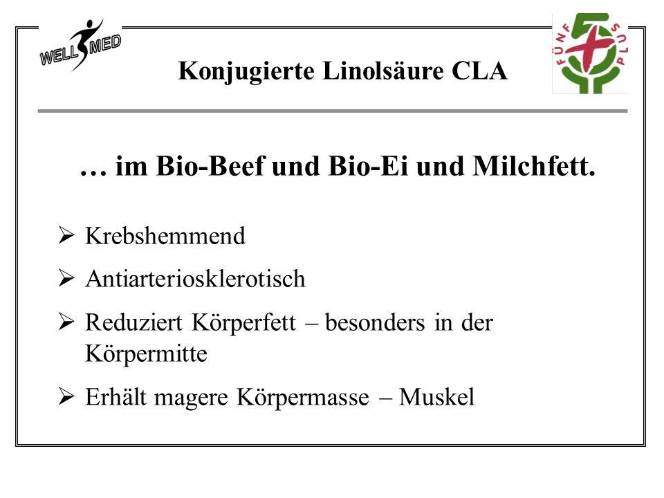 … im Bio-Beef und Bio-Ei und Milchfett.