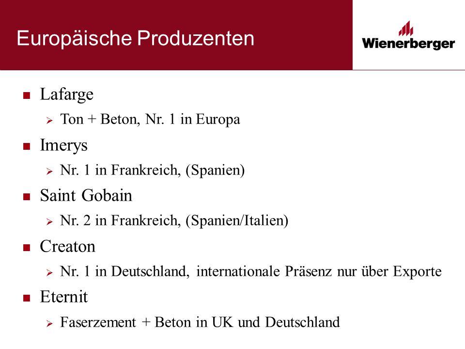 Europäische Produzenten Lafarge  Ton + Beton, Nr.