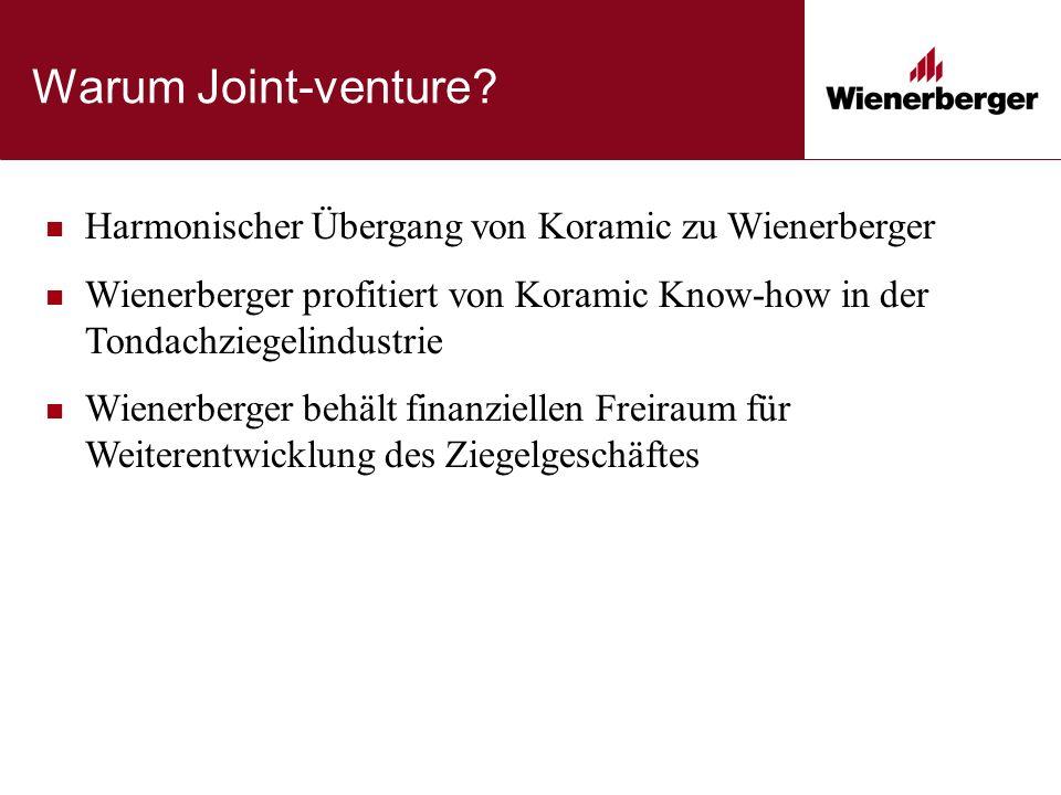 Warum Joint-venture.