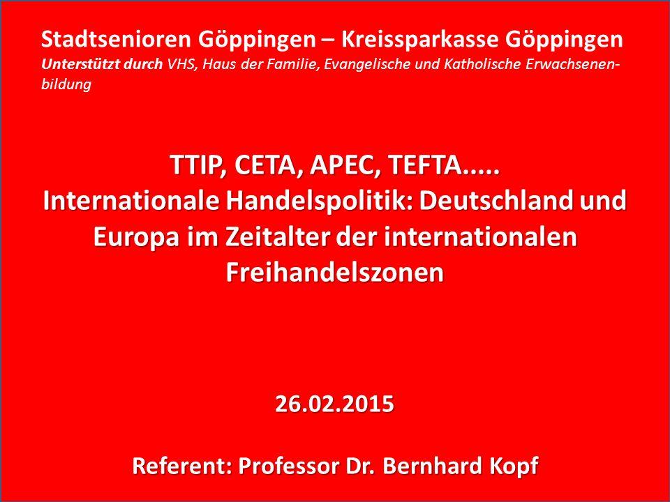 TTIP, CETA, APEC, TEFTA.....