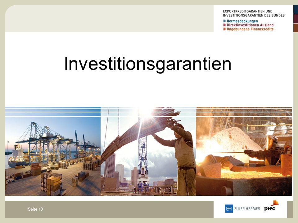 Seite 13 Investitionsgarantien