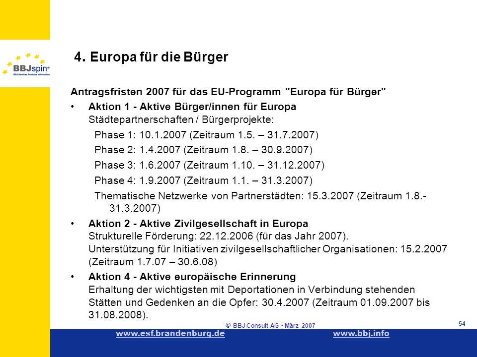 www.esf.brandenburg.dewww.esf.brandenburg.de www.bbj.infowww.bbj.info © BBJ Consult AG März 2007 54 4.