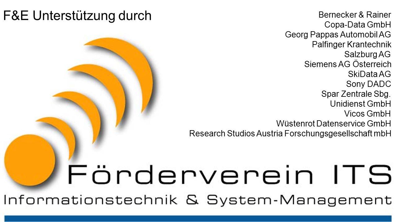 its – Forschungsprojekte Bernecker & Rainer Copa-Data GmbH Georg Pappas Automobil AG Palfinger Krantechnik Salzburg AG Siemens AG Österreich SkiData AG Sony DADC Spar Zentrale Sbg.