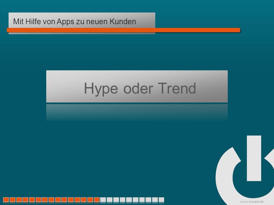 www.onwerk.de Hype oder Trend Mit Hilfe von Apps zu neuen Kunden