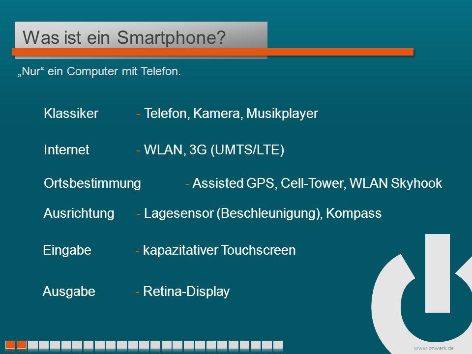www.onwerk.de Was ist eine App? Mit Hilfe von Apps zu neuen Kunden