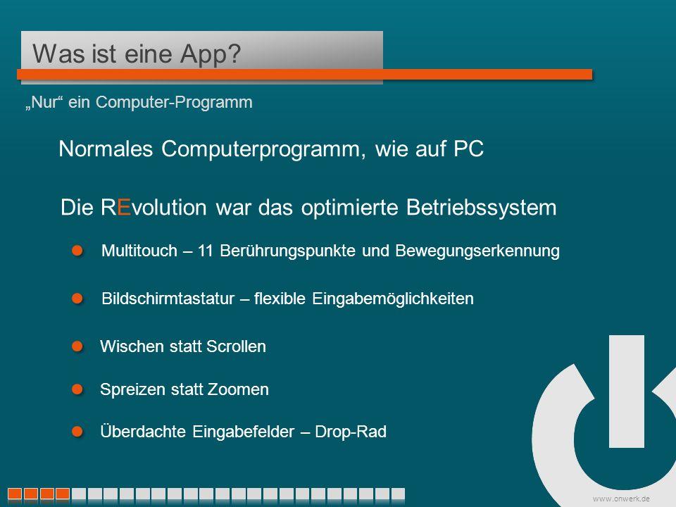 www.onwerk.de App oder Web? Mit Hilfe von Apps zu neuen Kunden