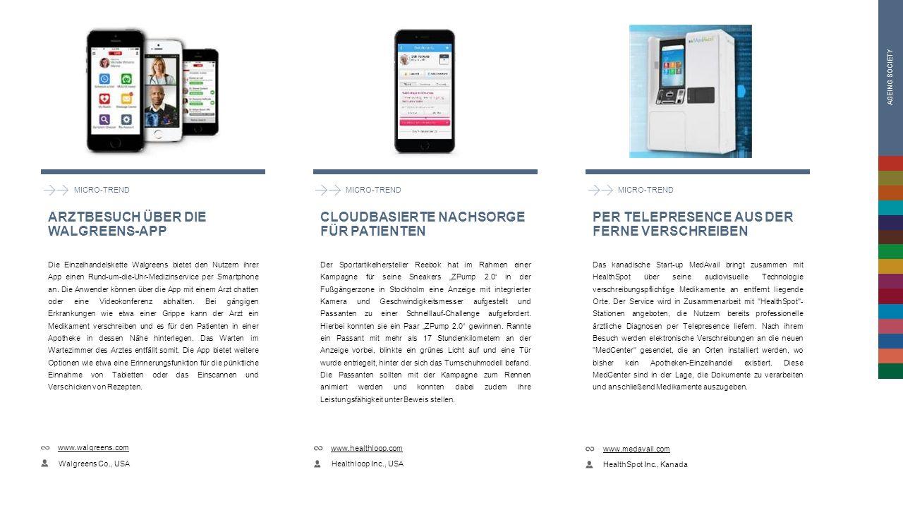 MICRO-TREND Die Einzelhandelskette Walgreens bietet den Nutzern ihrer App einen Rund-um-die-Uhr-Medizinservice per Smartphone an.