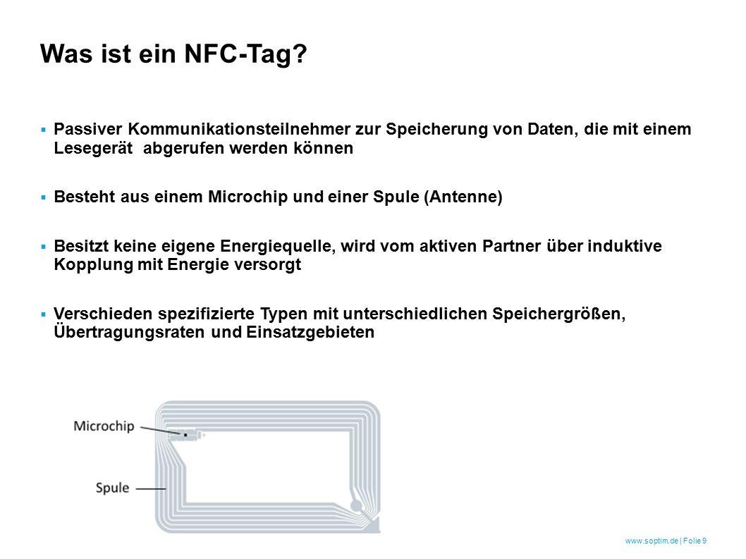 www.soptim.de | Folie 9 Was ist ein NFC-Tag.