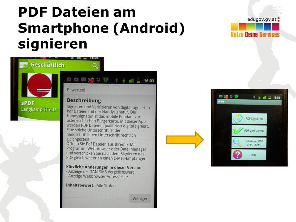 PDF Dateien am Smartphone (Android) signieren