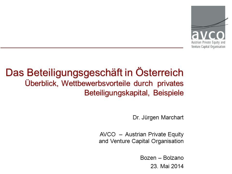 Das Beteiligungsgeschäft in Österreich Überblick, Wettbewerbsvorteile durch privates Beteiligungskapital, Beispiele Dr.