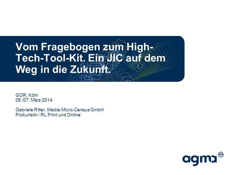 Vom Fragebogen zum High- Tech-Tool-Kit. Ein JIC auf dem Weg in die Zukunft.