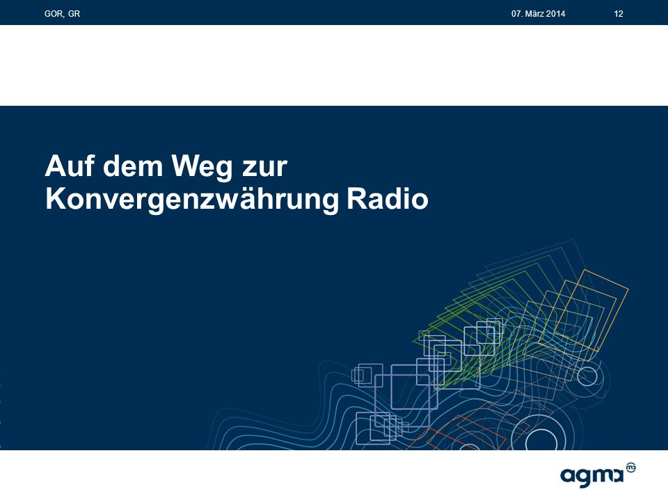 Auf dem Weg zur Konvergenzwährung Radio 1207. März 2014GOR, GR