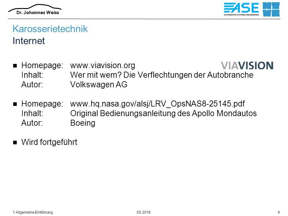 SS 20161 Allgemeine Einführung9 Karosserietechnik Internet Homepage:www.viavision.org Inhalt:Wer mit wem? Die Verflechtungen der Autobranche Autor:Vol