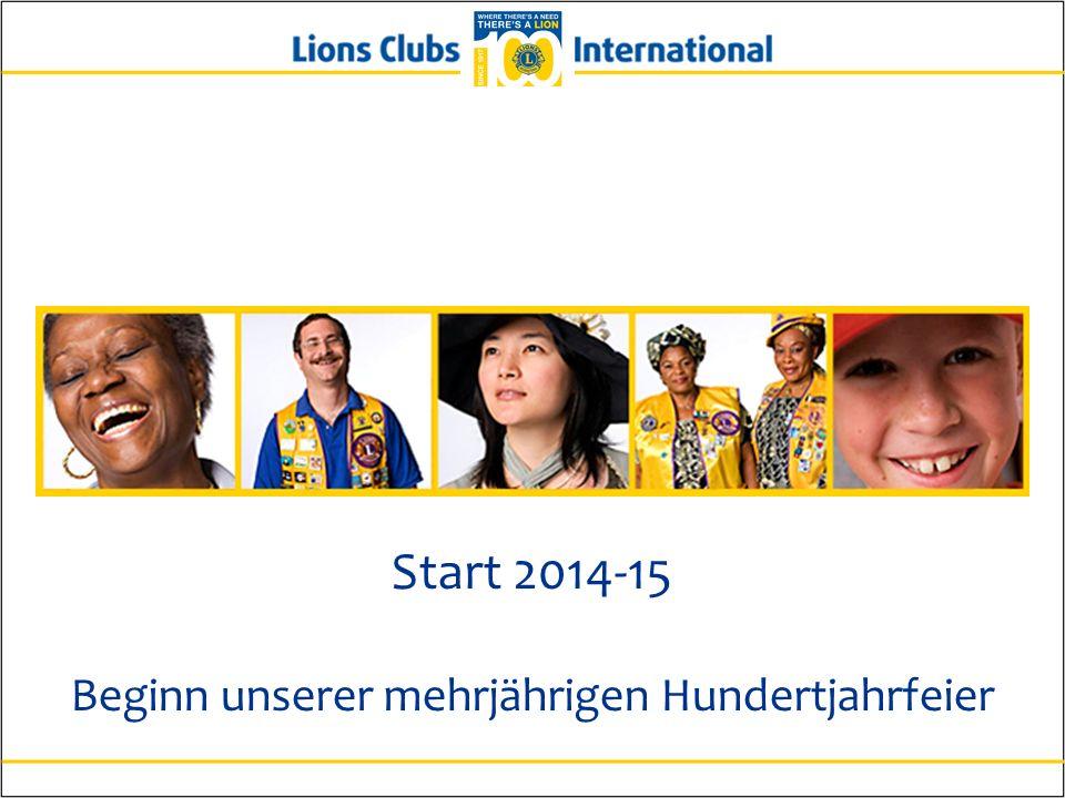 Start 2014-15 Beginn unserer mehrjährigen Hundertjahrfeier