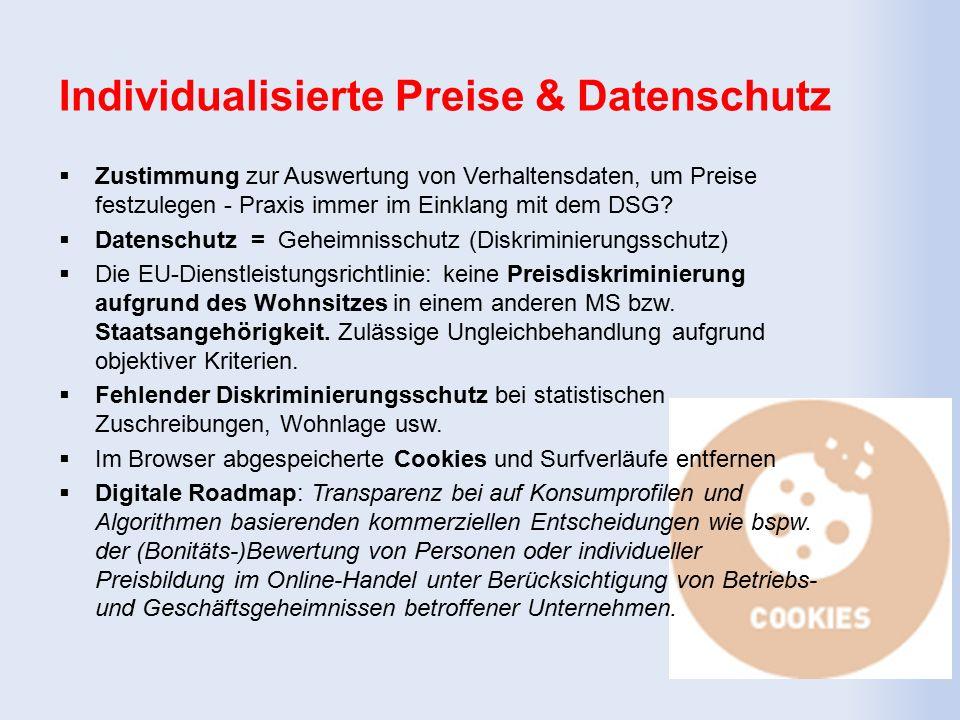 DSGVO – Positives für Verbraucher  Räuml.Anwendung: außereurop.