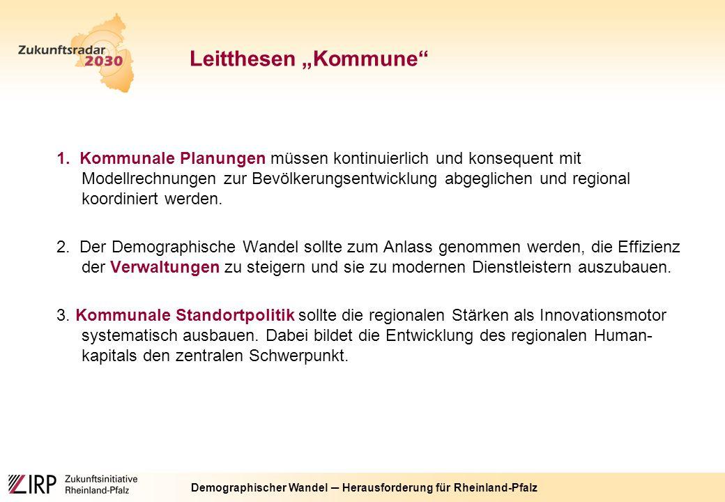Demographischer Wandel ─ Herausforderung für Rheinland-Pfalz 1.