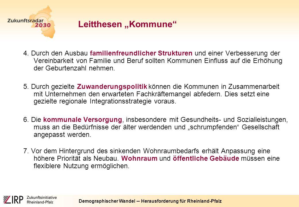 Demographischer Wandel ─ Herausforderung für Rheinland-Pfalz 4.