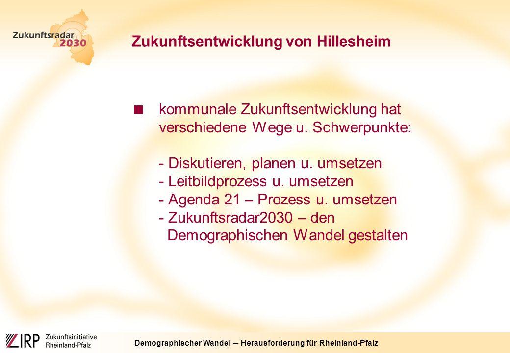 Demographischer Wandel ─ Herausforderung für Rheinland-Pfalz