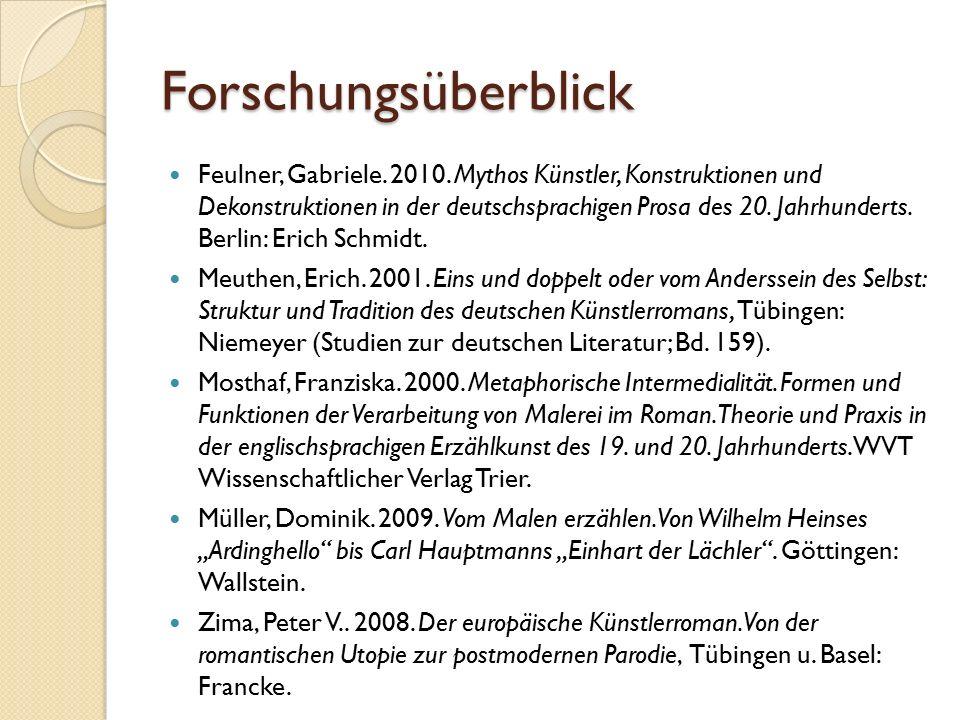 Forschungsüberblick Feulner, Gabriele. 2010.