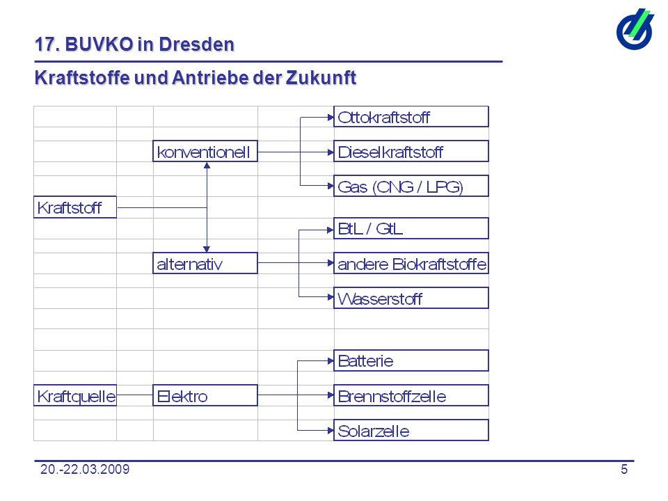 20.-22.03.20095 17. BUVKO in Dresden Kraftstoffe und Antriebe der Zukunft