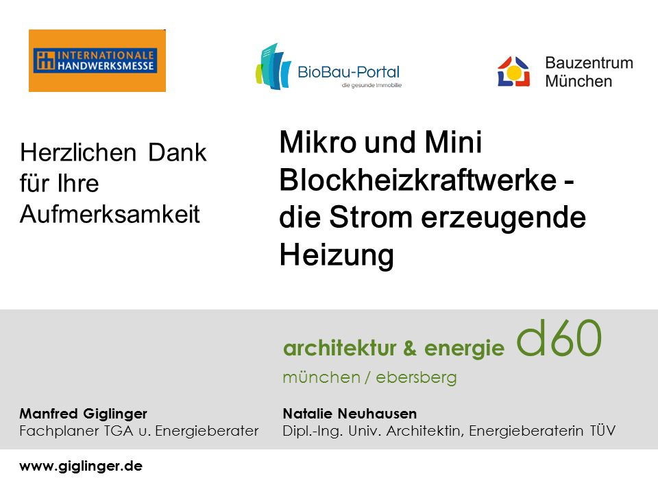 architektur & energie d60 münchen / ebersberg Manfred Giglinger Natalie Neuhausen Fachplaner TGA u.