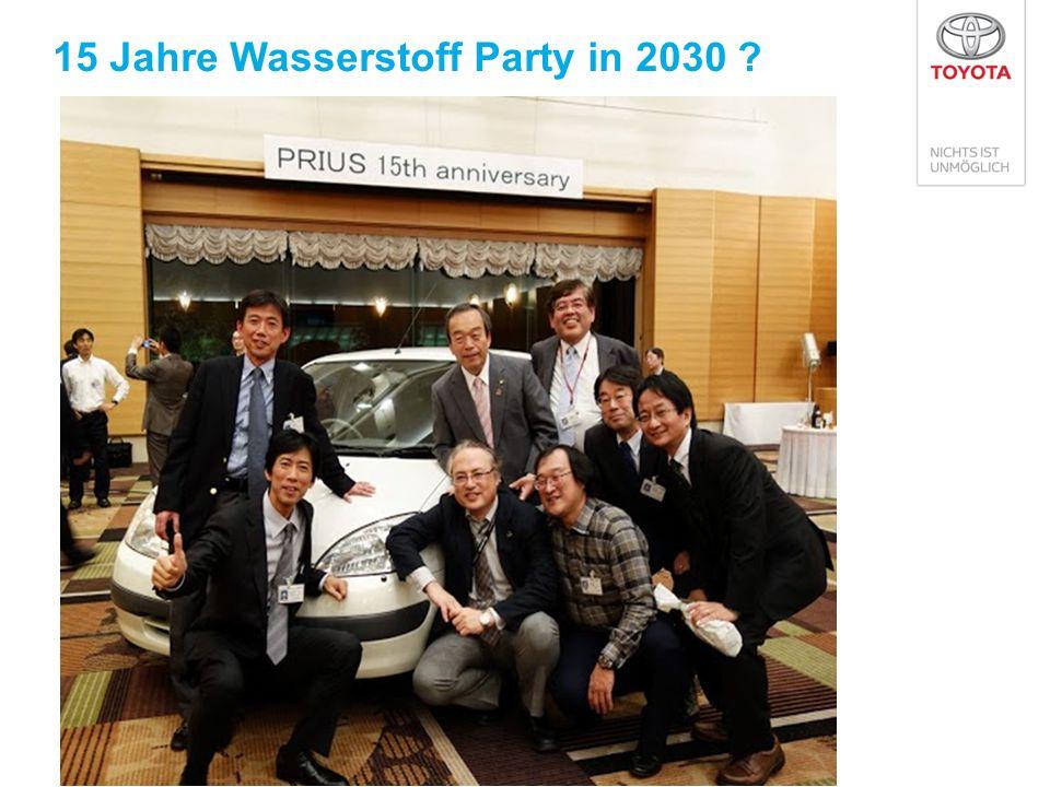 15 Jahre Wasserstoff Party in 2030