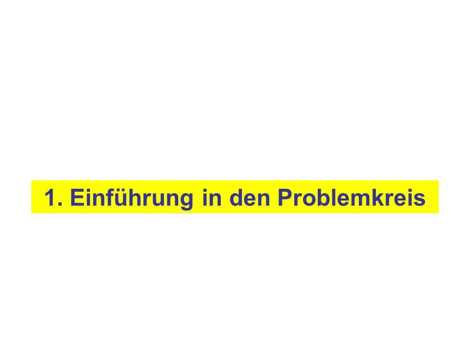 1. Einführung in den Problemkreis
