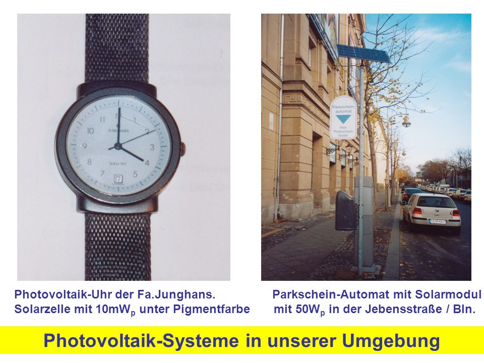 Photovoltaik-Uhr der Fa.Junghans.