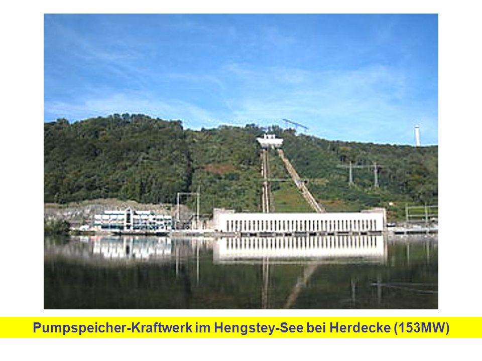 Pumpspeicher-Kraftwerk im Hengstey-See bei Herdecke (153MW)