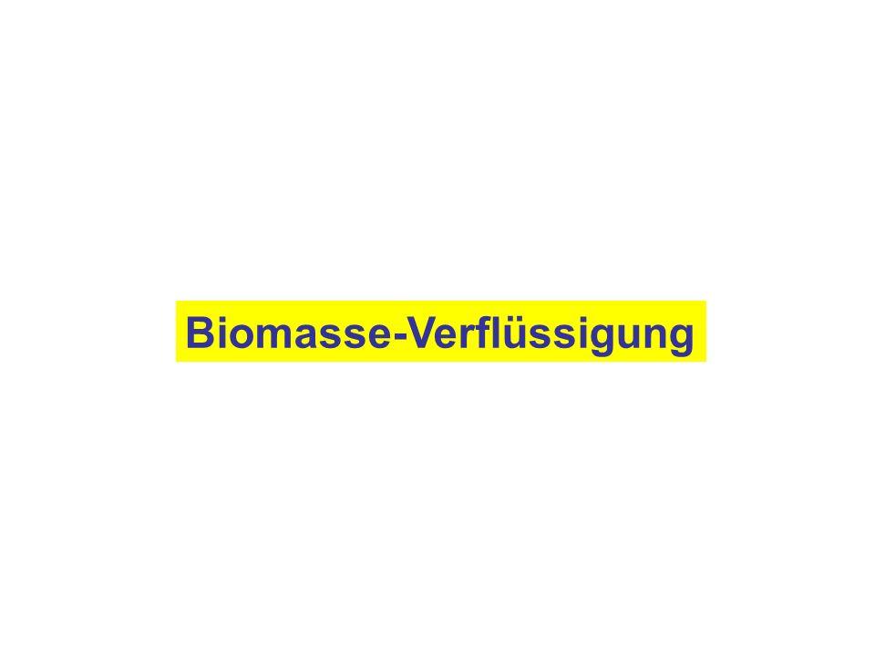 Biomasse-Verflüssigung