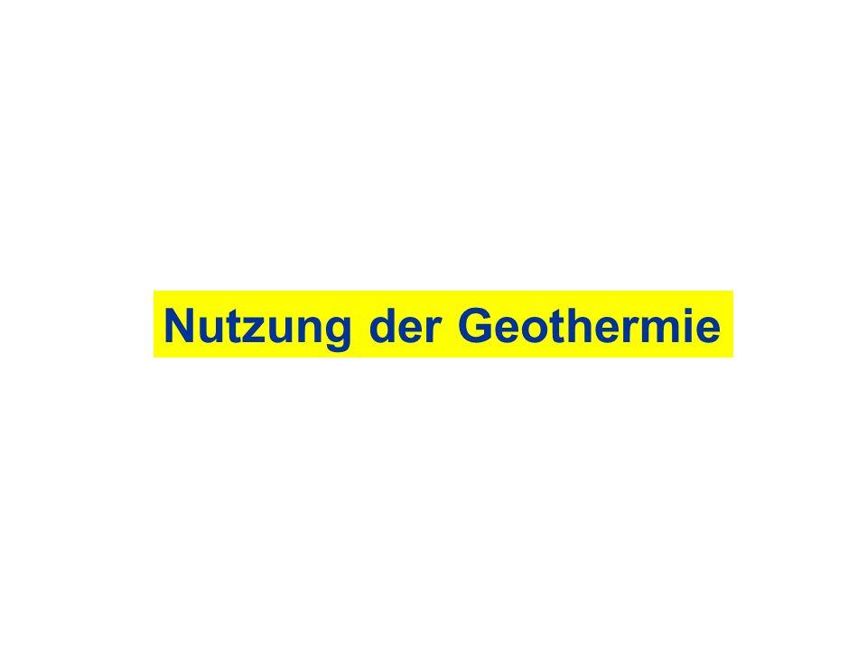 Nutzung der Geothermie