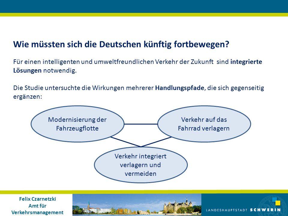 Felix Czarnetzki Amt für Verkehrsmanagement Wie müssten sich die Deutschen künftig fortbewegen.