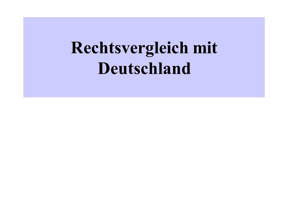 Rechtsvergleich mit Deutschland