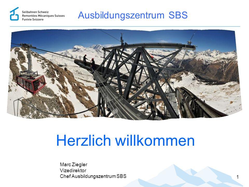 1 Ausbildungszentrum SBS Herzlich willkommen Marc Ziegler Vizedirektor Chef Ausbildungszentrum SBS