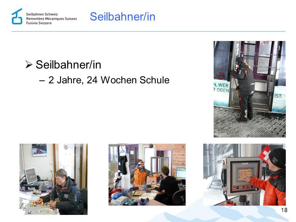Seilbahner/in  Seilbahner/in –2 Jahre, 24 Wochen Schule 18