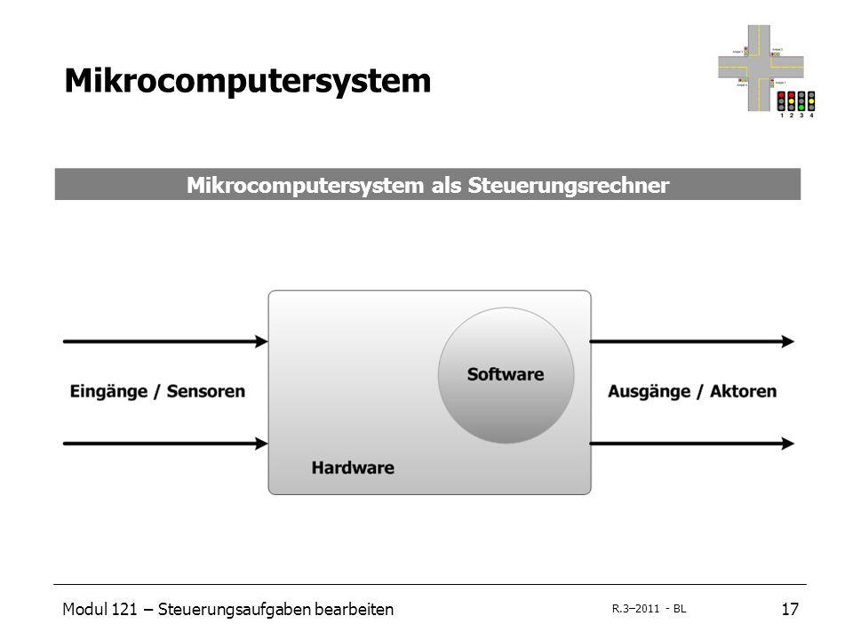 Modul 121 – Steuerungsaufgaben bearbeiten17 R.3–2011 - BL Mikrocomputersystem Mikrocomputersystem als Steuerungsrechner
