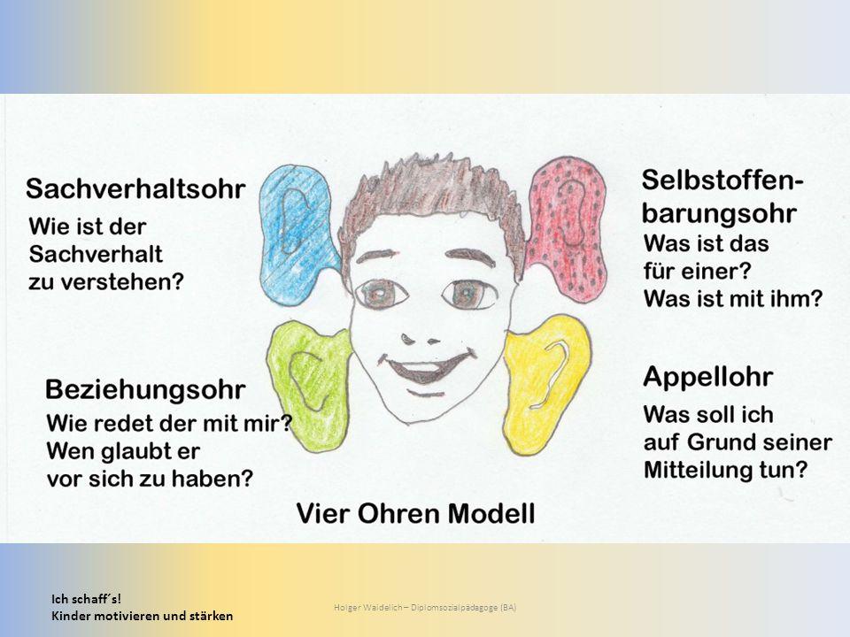 Ich schaff´s! Kinder motivieren und stärken Holger Waidelich – Diplomsozialpädagoge (BA)