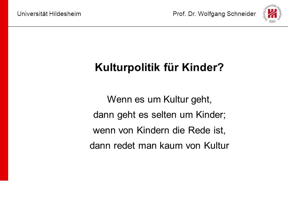 Kulturpolitik für Kinder.