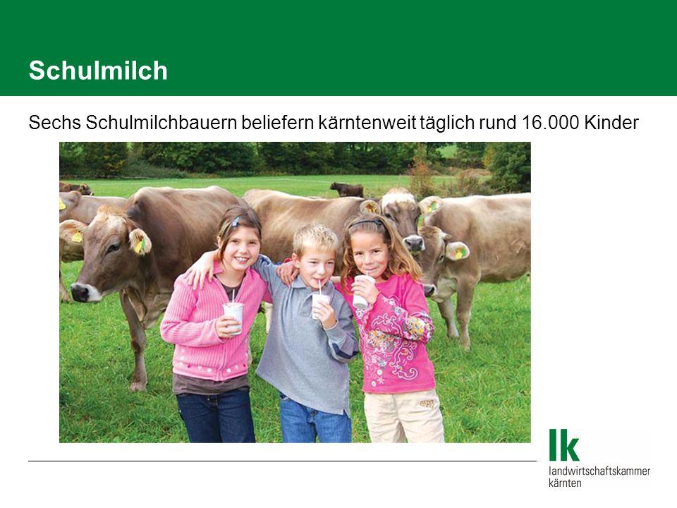 Schulmilch Sechs Schulmilchbauern beliefern kärntenweit täglich rund 16.000 Kinder