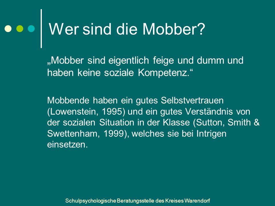 Schulpsychologische Beratungsstelle des Kreises Warendorf Wer sind die Mobber.
