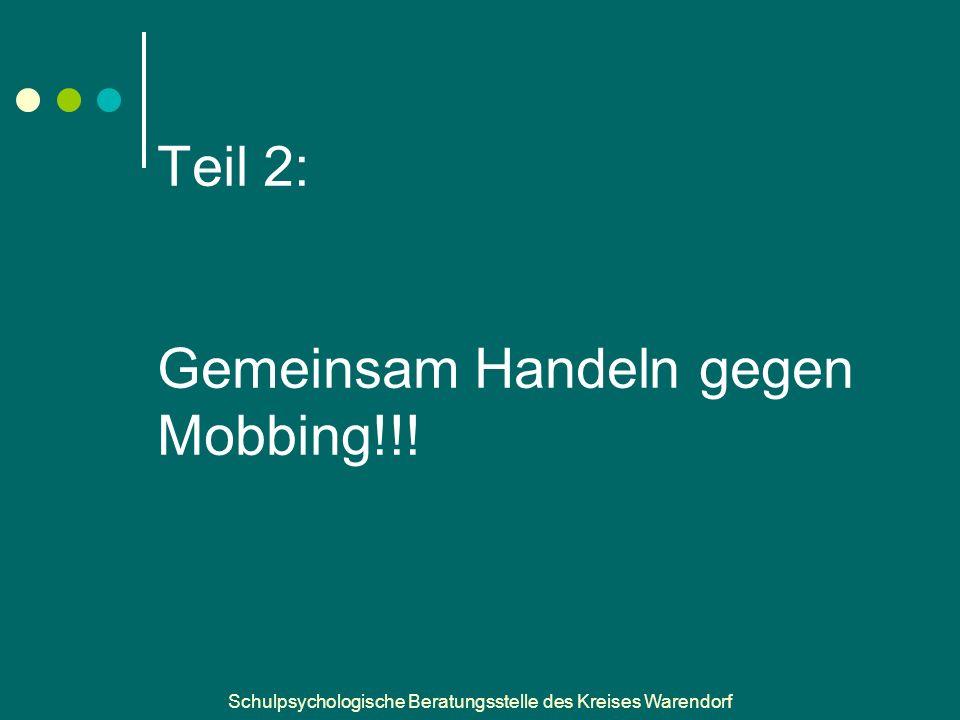 Schulpsychologische Beratungsstelle des Kreises Warendorf Teil 2: Gemeinsam Handeln gegen Mobbing!!!