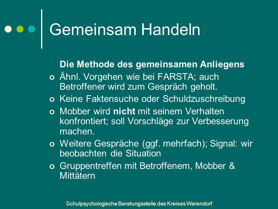 Schulpsychologische Beratungsstelle des Kreises Warendorf Gemeinsam Handeln Die Methode des gemeinsamen Anliegens Ähnl.