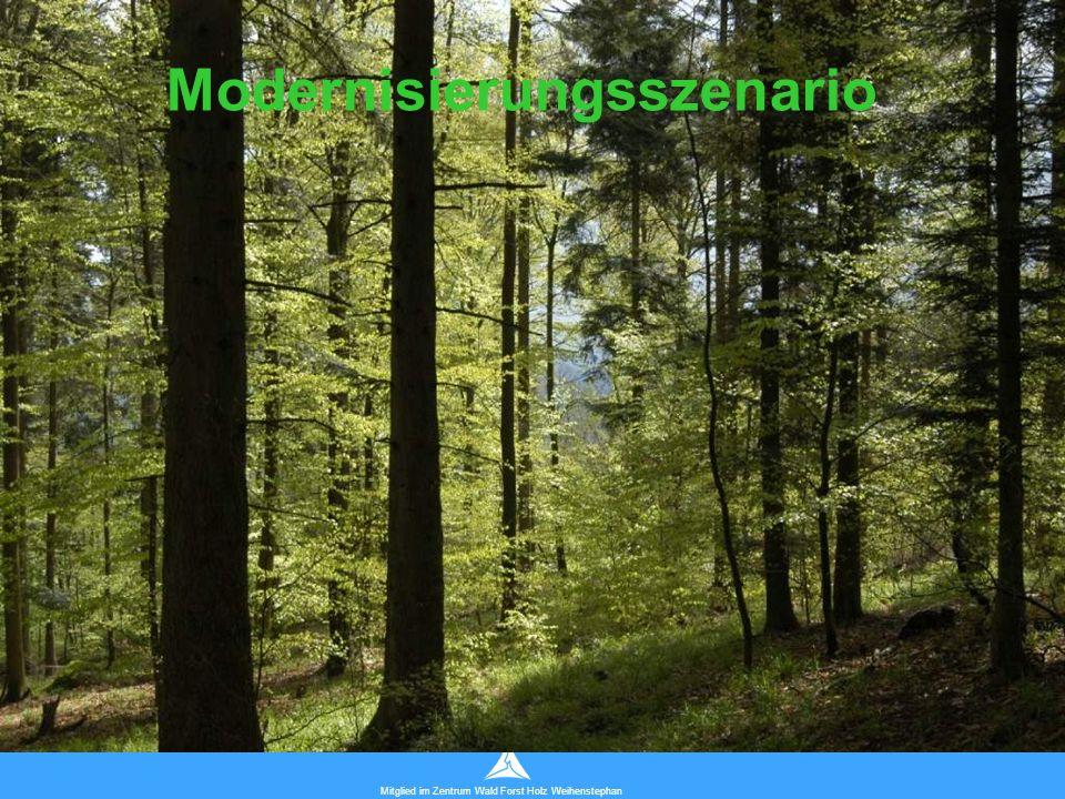 Technische Universität München Mitglied im Zentrum Wald Forst Holz Weihenstephan Modernisierungsszenario