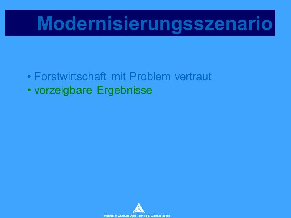 Technische Universität München Mitglied im Zentrum Wald Forst Holz Weihenstephan Modernisierungsszenario Forstwirtschaft mit Problem vertraut vorzeigbare Ergebnisse